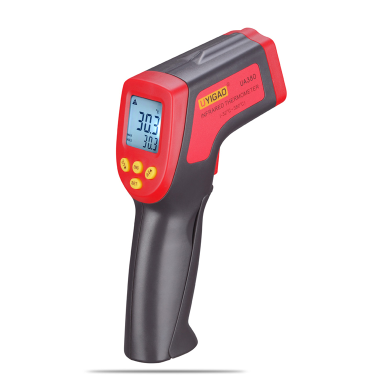 digital infrared thermometer 380 degrees Celsius