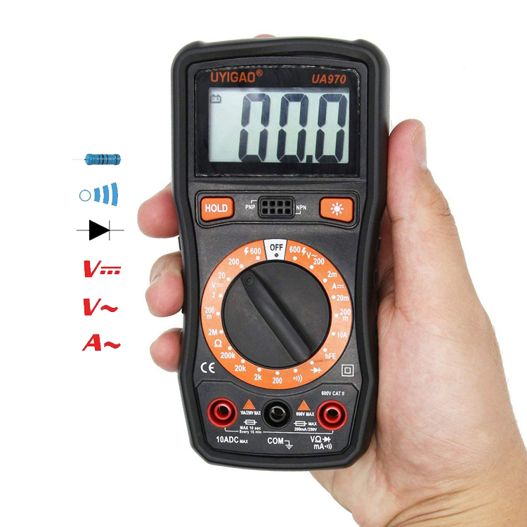Best cheap price AC DC ohm Resistance Capacitance meter Ammeter voltmeter tester compact digital multimetro UA970