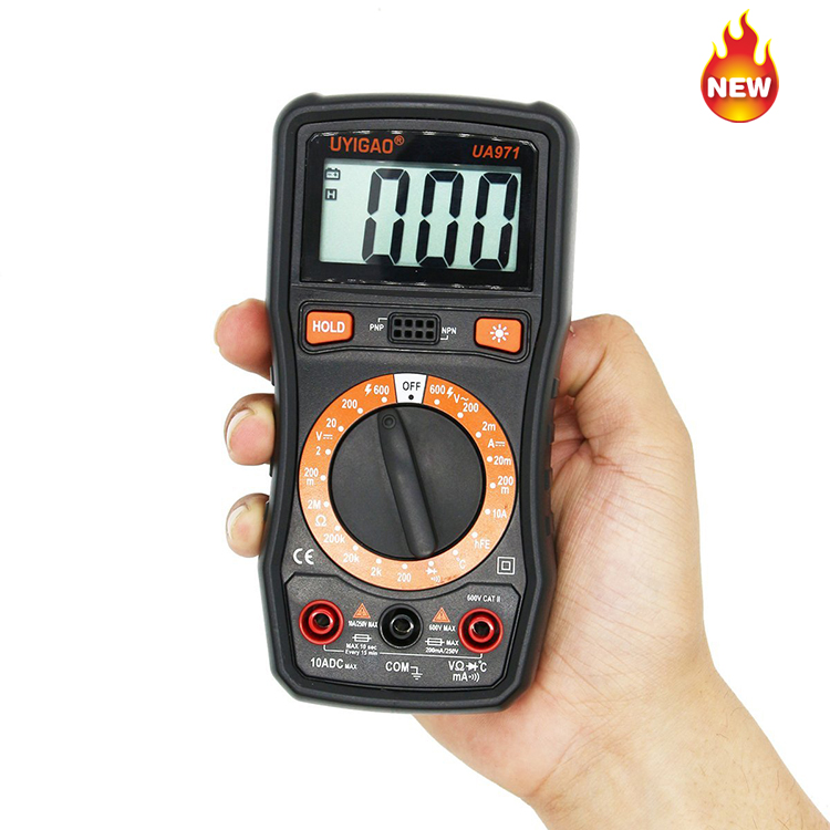 new portable smart ac/dc ncv digital multimeter ac current voltage resistance continuity measurement tester UA971