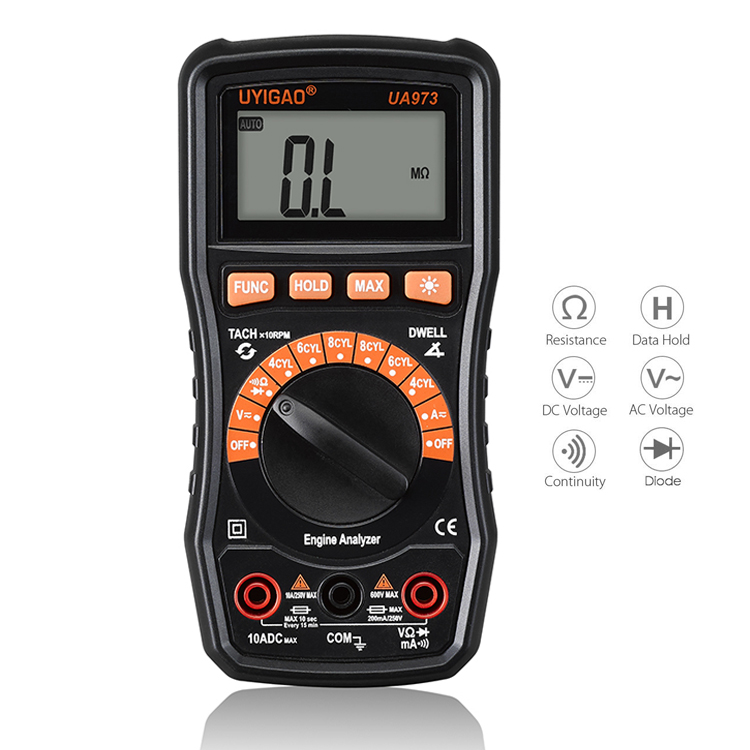 Top selling vehicle inspection maintenance tool intelligent car automotive low price digital multimeter