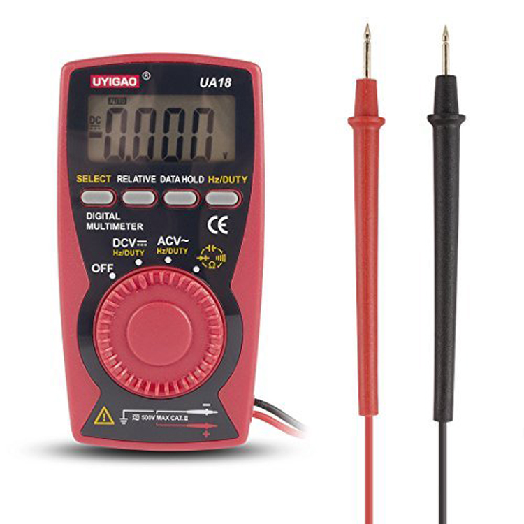 Pocket Compact Duty Ratio Frequency Capacitance Resistance Auto-range palm Digital Multimeter UA18