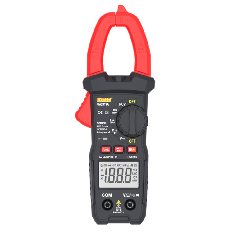 New Digital Clamp Meter AC Current Voltage Auto Range Clamp Multimeter Voltmeter Ammeter Tester ua2019a