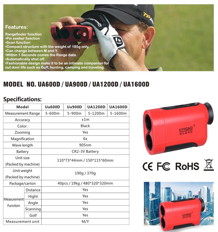 Laser Golf Rangefinder Meter wholesale